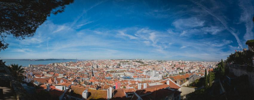 panorama of Lisbon from Castelo de São Jorge