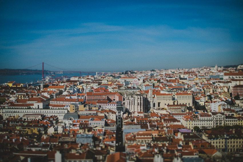 view of Lisboa centre from Castelo de São Jorge