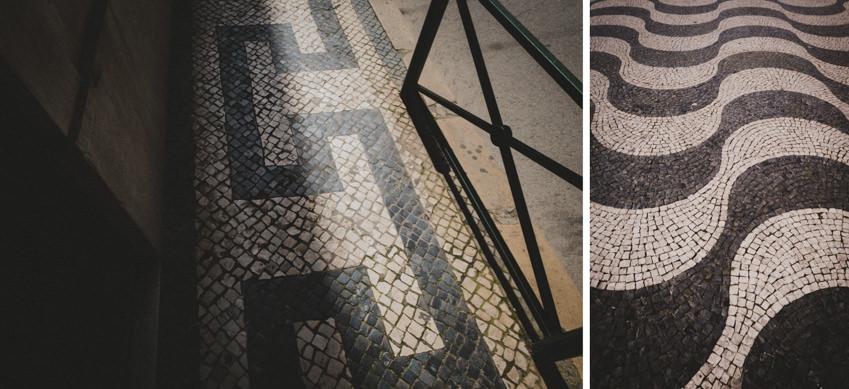 tile pavement in Lisbon