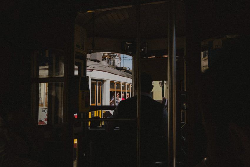 ride inside tram 28