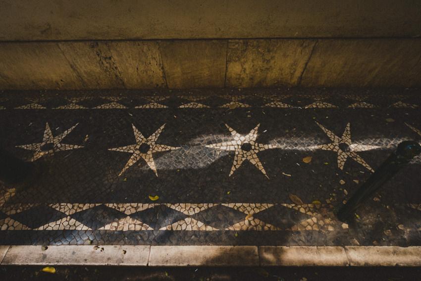 star tiled pavement