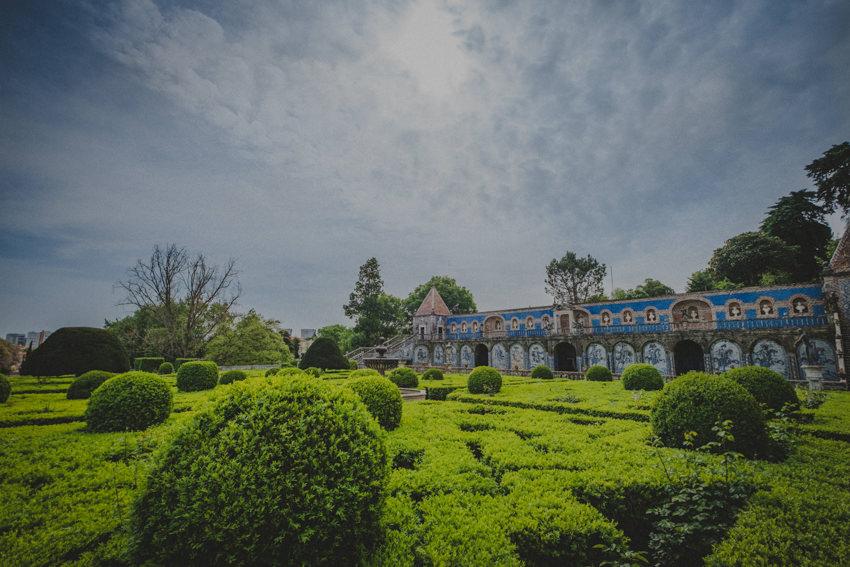 Palácio dos Marqueses da Fronteira garden