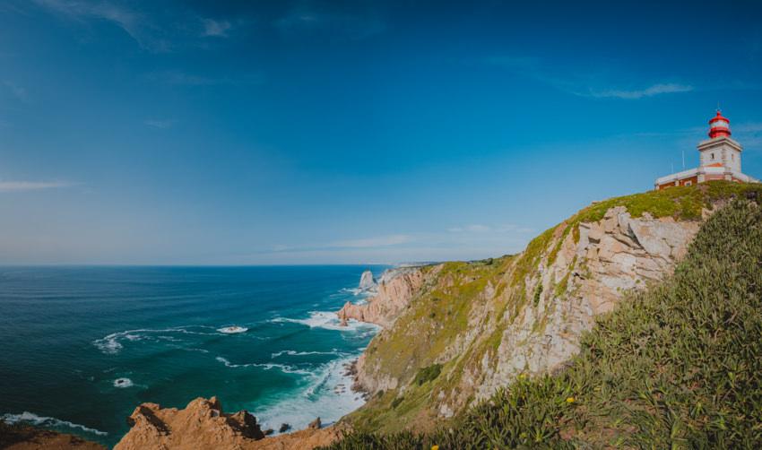 Cabo da Roca lighthouse panorama