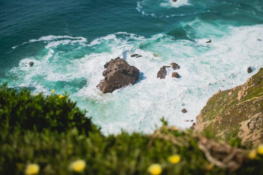 rocks and waves at Cabo da Roca