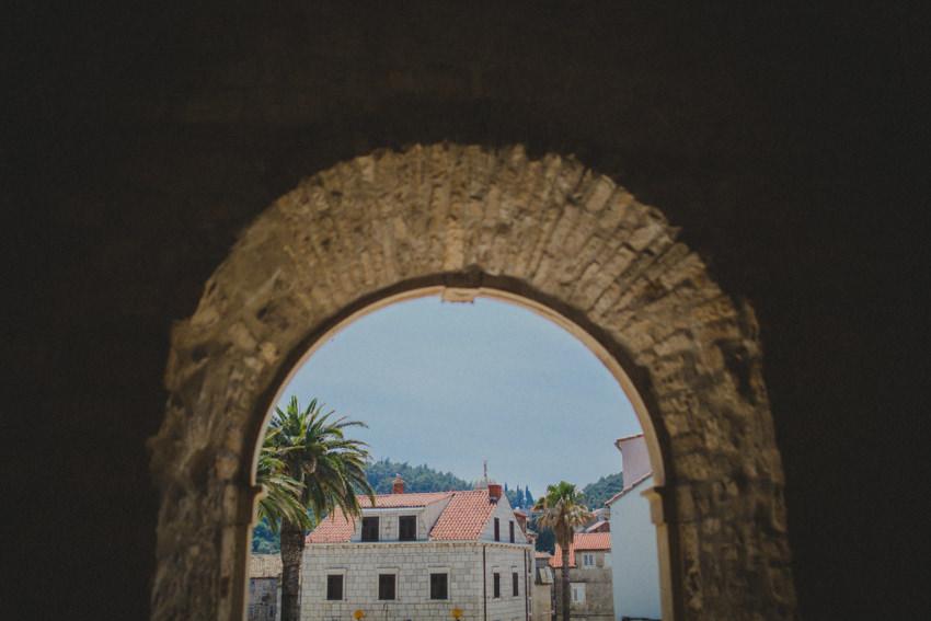 Korčula Old Town entrance arch