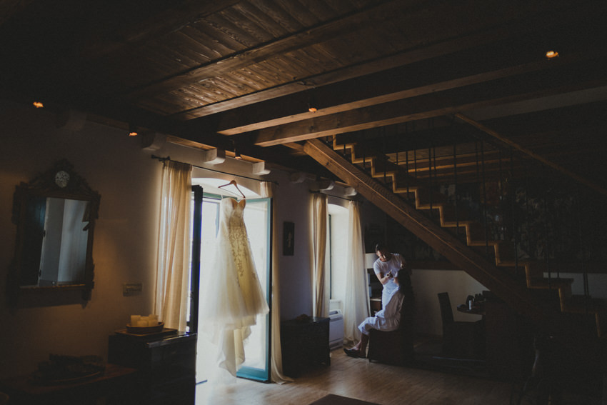 wedding preparations at villa Agave