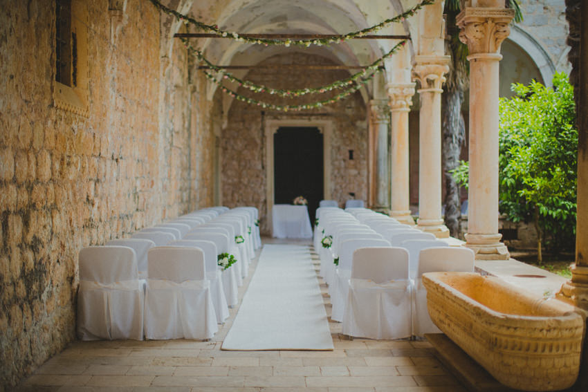 ceremony venue in the Dominican monastery