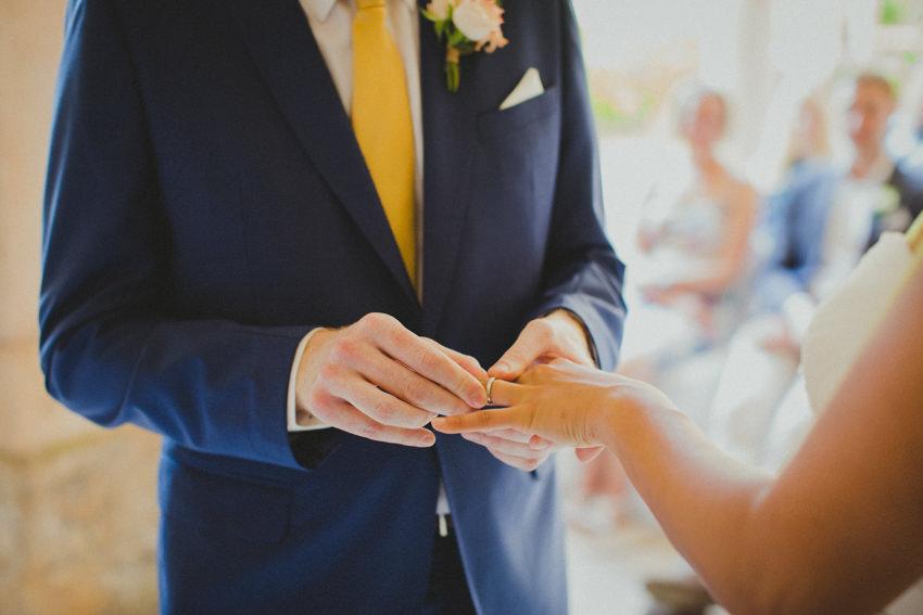exchanging rings closeup