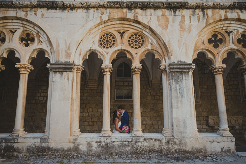 session in Dominican monastery atrium in Old Town Dubrovnik