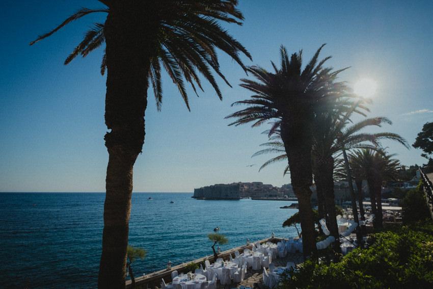 hotel Excelsior Dubrovnik Palm Terrace wide shot