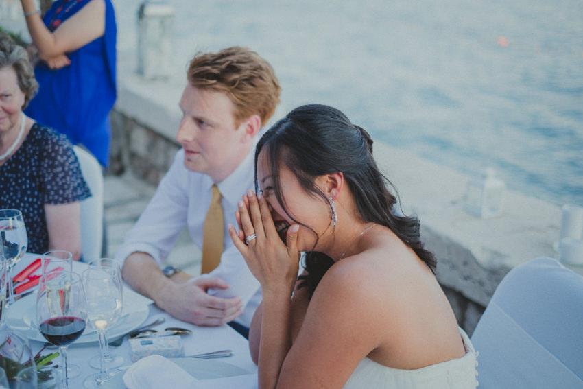 bride listening to her dad speak