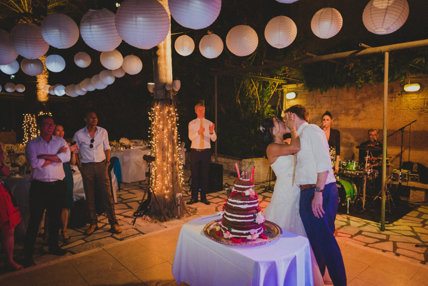cake cutting and kiss
