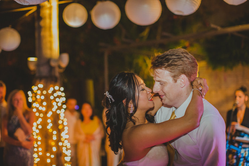 kiss during the first dance