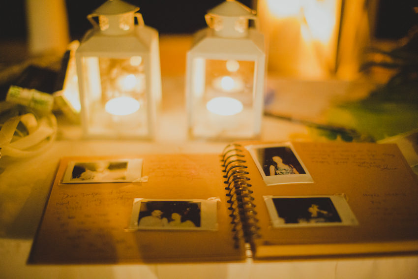 polaroid shots in the guestbook