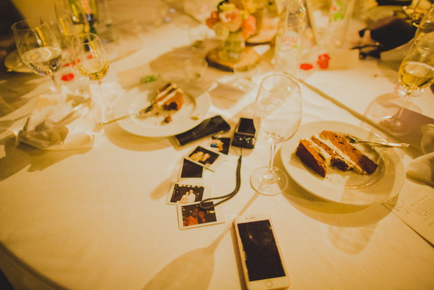 polaroid shots on the table