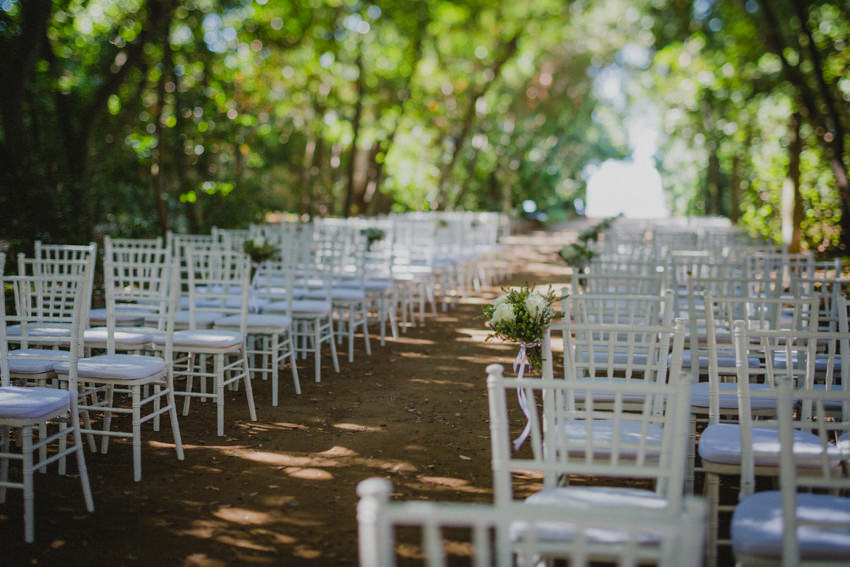 ceremony venue in botanical garden