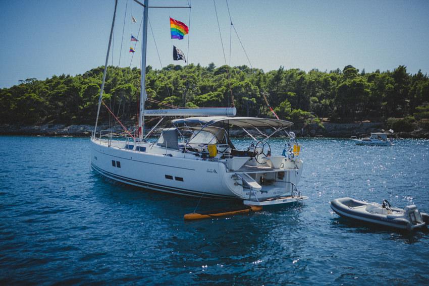 couple's yacht