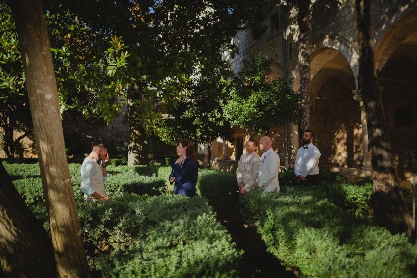 gay wedding ceremony on Lokrum