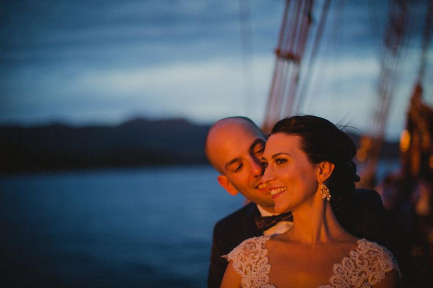 couple on karaka boat