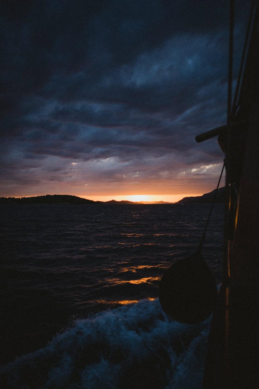 sunset adriatic croatia