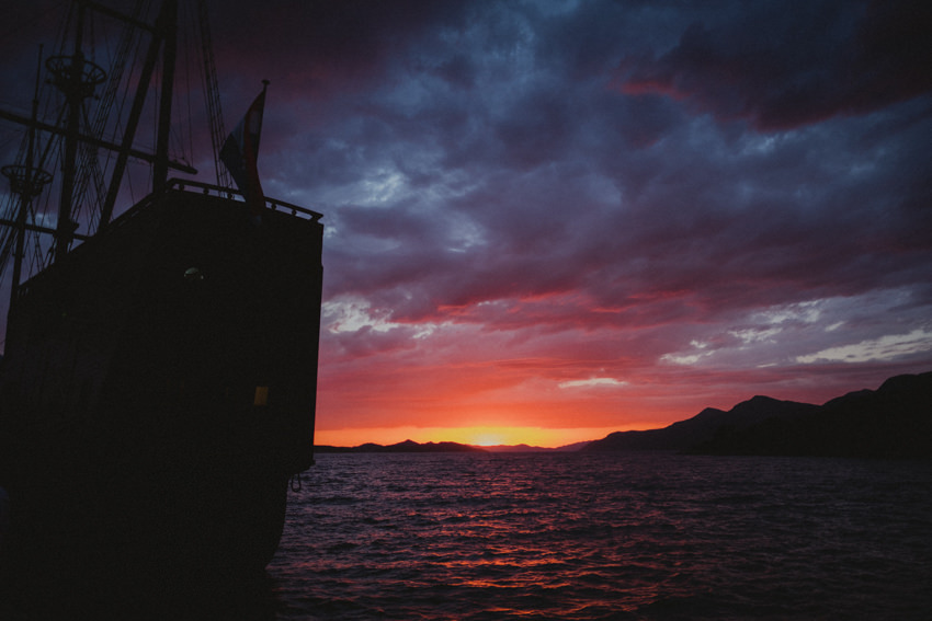 karaka sunset
