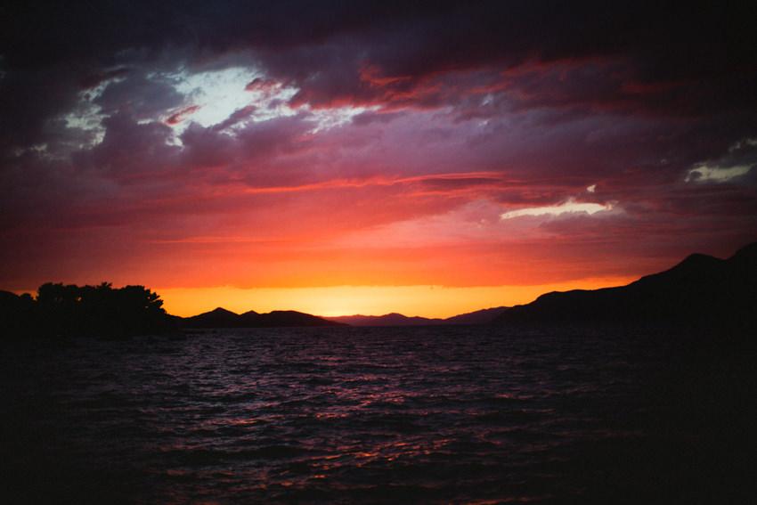 Koločep island sunset