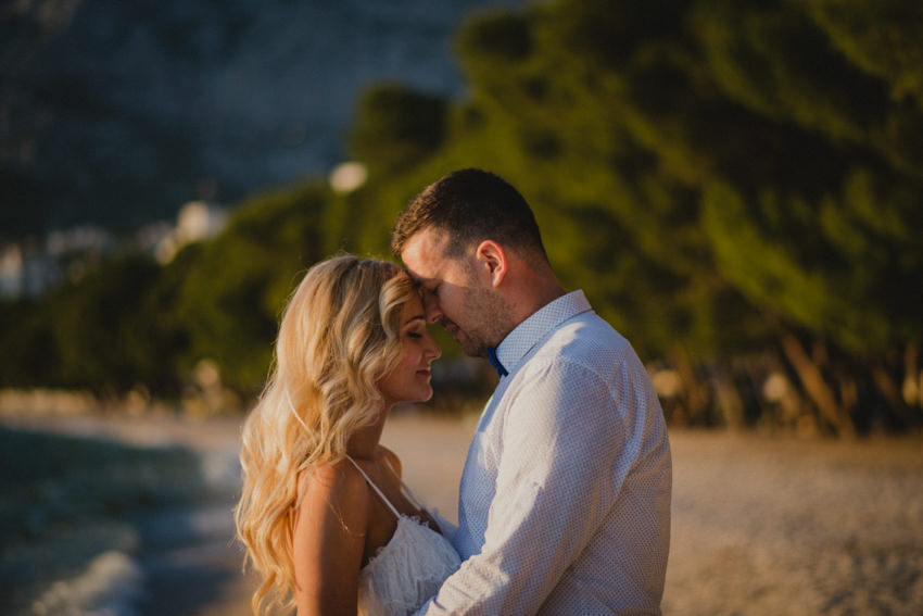 golden hour session on Makarska beach