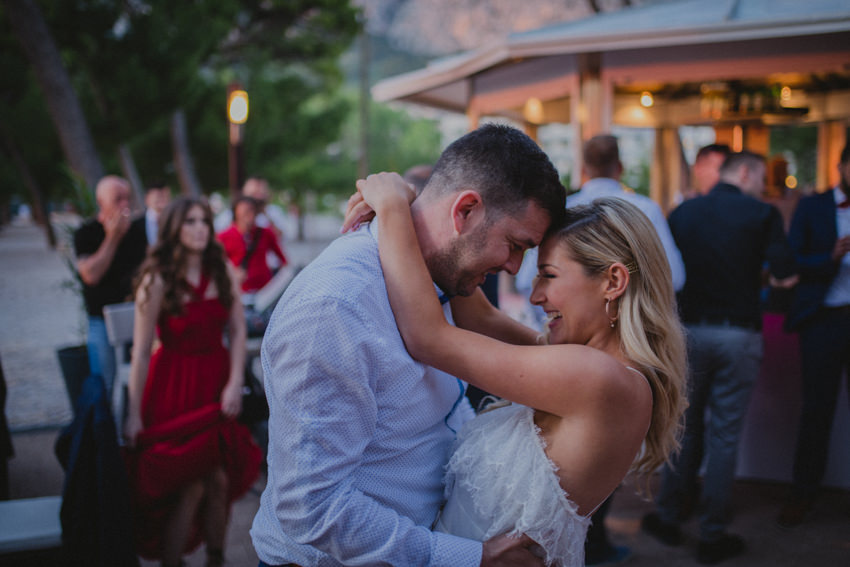 hug on the first dance