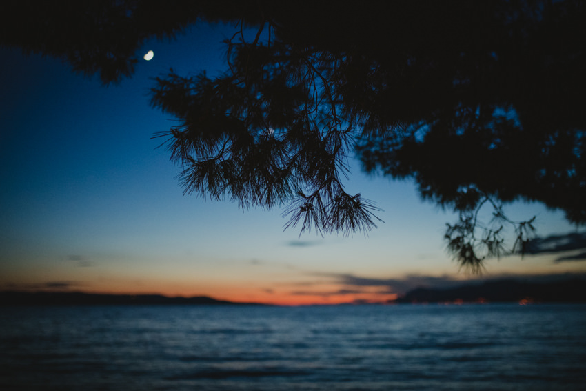 dusk on Makarska beach