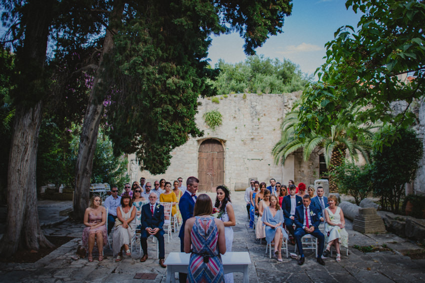 ceremony at St. Mark's church Hvar
