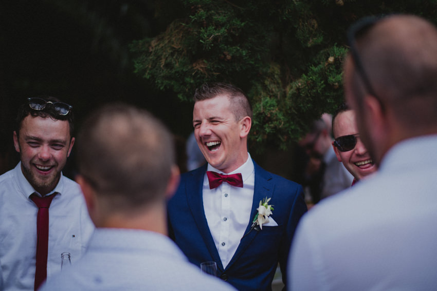 groom in good spirits