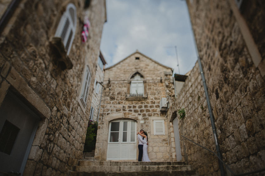Hvar alleys wedding