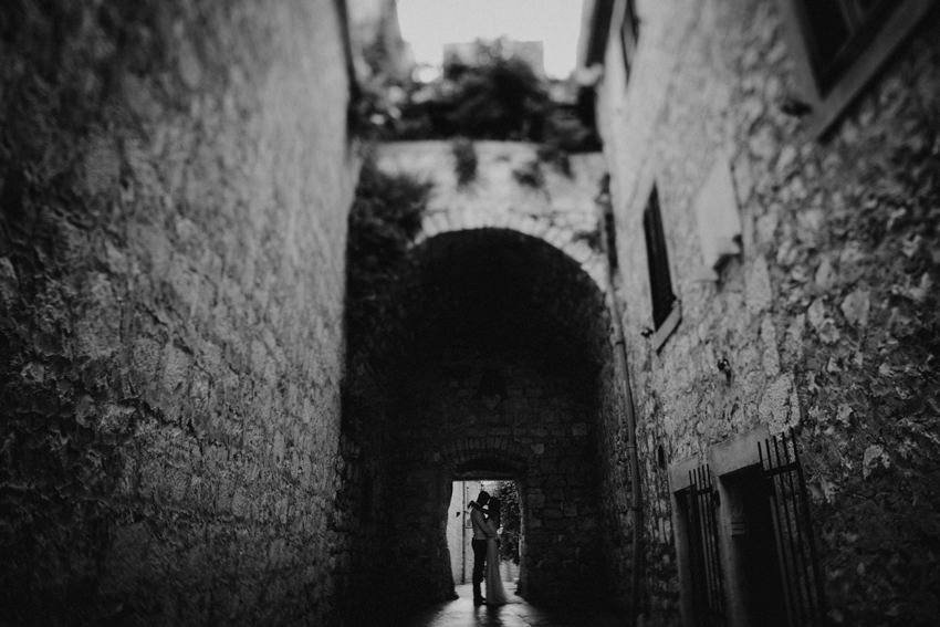 alley passageway in old town Hvar
