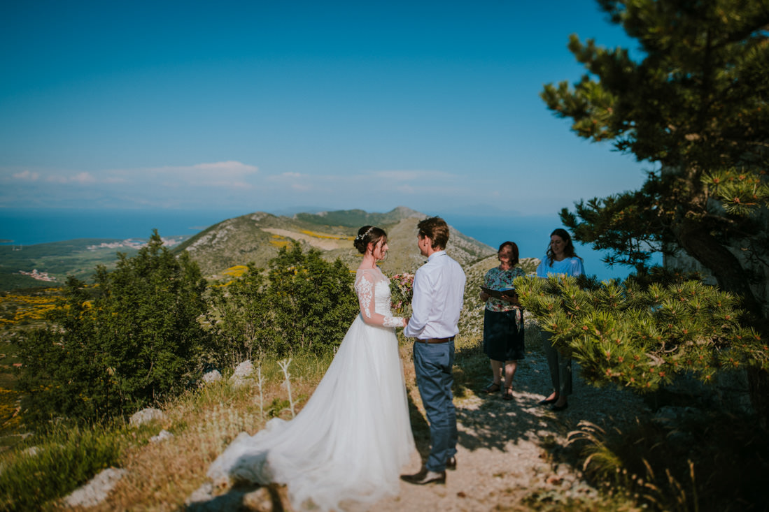 mountaintop ceremony on hvar st nicholas peak