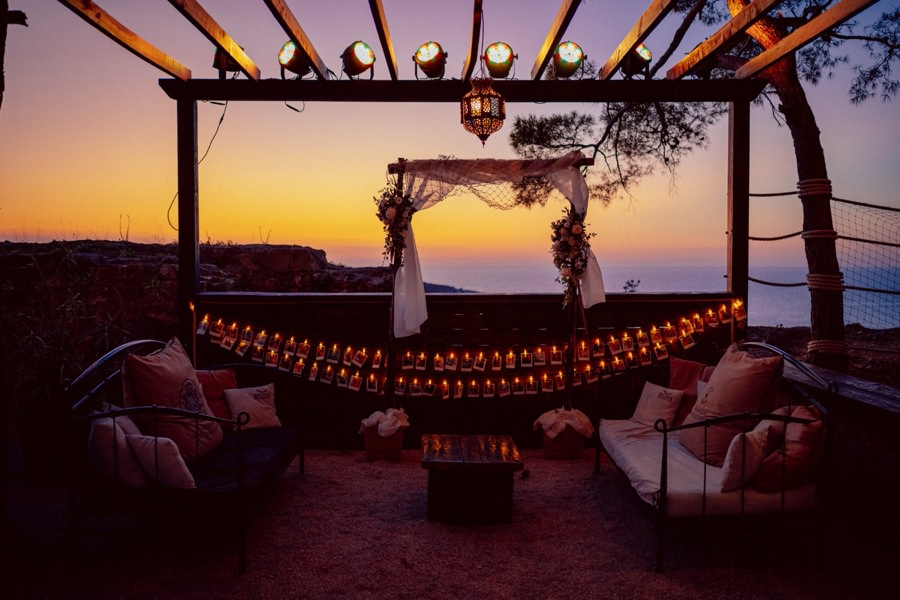 croatian wedding venues sunset at ft. george